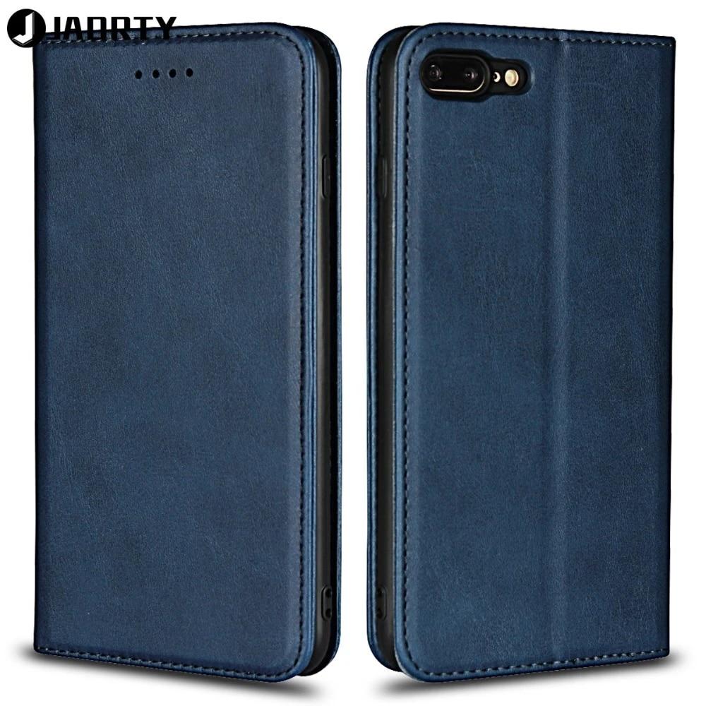 Etui Jaorty pour Coque iPhone 7 Plus 8 Plus étui pour iPhone 8 Plus étui de luxe en cuir portefeuille aimant étui pour téléphone