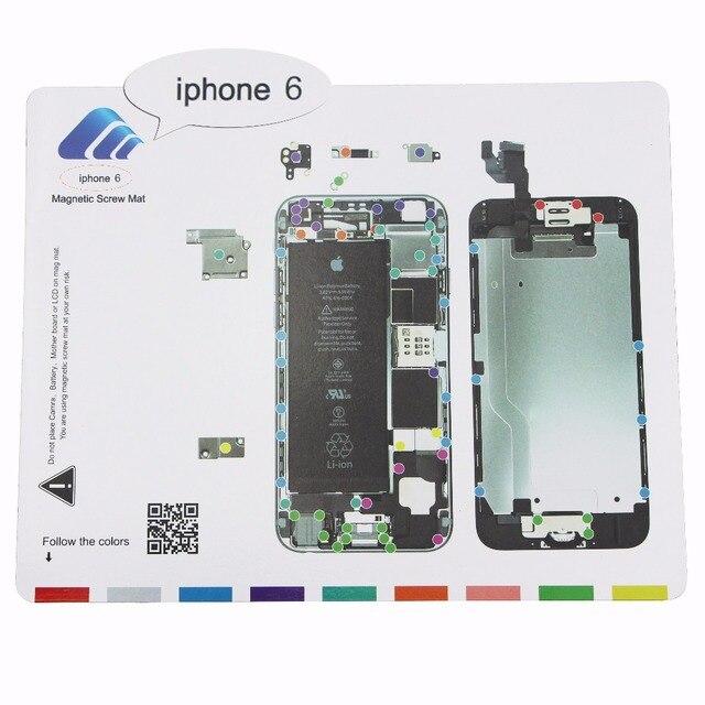 25x20cm 1 piece Magnetic Screw Mat For iPhone 7 7Plus 6 6s Plus LCD Screen Opening Tools Repair