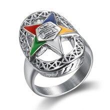 Nieuwe Trendy Orde Van De Eastern Star Ringen Voor Vrouwen Dames Party Band Ring Maçonnieke Sieraden Voor Vrouwen Oes Ringen