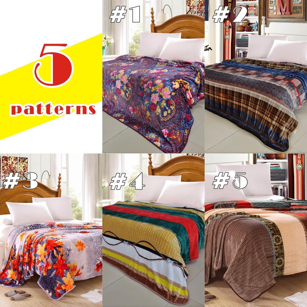 New Warm Blanket Soft Blanket On Bed Coral Fleece Warm Throw Blankets  Travel Blanket Home Textiles