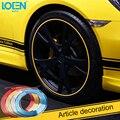 8 M/Roll Car Styling Accesorios de La Rueda Del Neumático Del Coche Pegatina de Gaza DIY Llanta del Neumático del coche de Protección del cuerpo tira decorativa