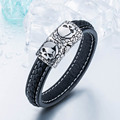 steel soldier wholesale simple leather fashion men bracelet high quality popular jewelry