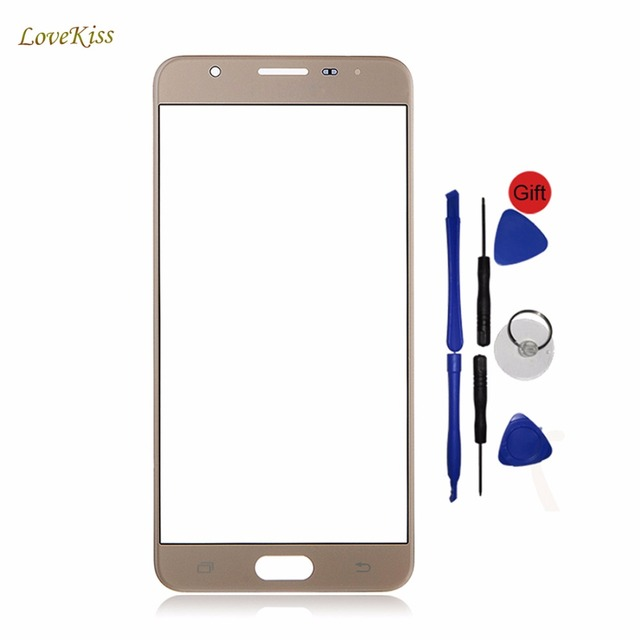 Touch Panel For Samsung Galaxy J5 Prime SM-G570F SM G570F G570 Front Glass Screen Replacement Free Adhesive Tape Sticker No Logo
