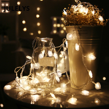 JULELYS 30M 300 Pærer Fairy Lights Christmas Garland Festoon Vindu Hjerte LED String Lights Decoration For Wedding Holiday Party
