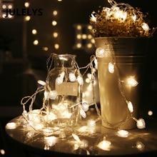JULELYS 30M 300 נורות פיות אורות חג המולד גרלנד מזוזה חלון הלב LED מחרוזת אורות קישוט למסיבת חג החתונה
