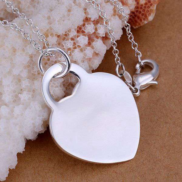 Sterling Silver Girls .8mm Box Chain 15//16 Engraveable Round Disc Tag Pendant Necklace