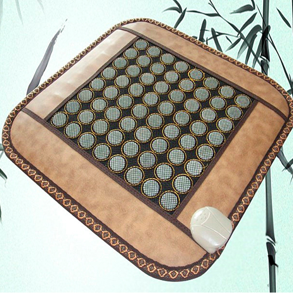 Good Quality! Natural Jade Mat Tourmaline Heat Chair Cushion Far Infrared Heat Pad Health Care Mat AC220V 45*45CM Free Shipping good quality natural jade mat tourmaline heat chair cushion far infrared heat pad health care mat ac220v 45 45cm free shipping