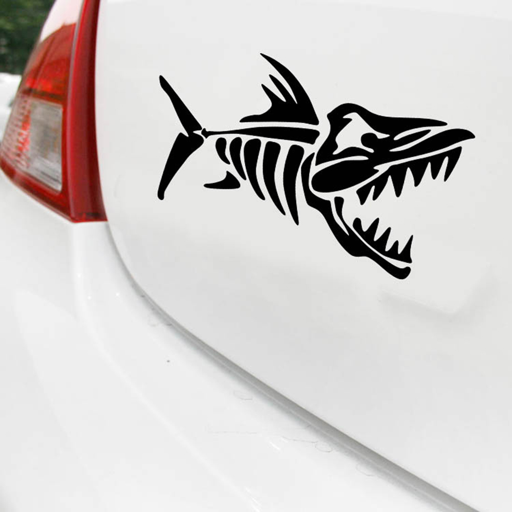 Aliauto Car Accessories Fish Bone Funny Motorcycle Sticker and Car Decal for Alfa Romeo 156 Saet Abarth Hyundai Vw Skoda Superb ...