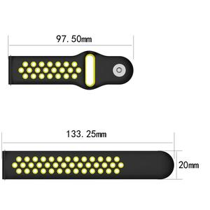 Image 5 - Breathable Silicone Sports Band Watch Strap Wrist Strap Wristband 18 20mm Rubber Strap Bands For Ticwatch C2