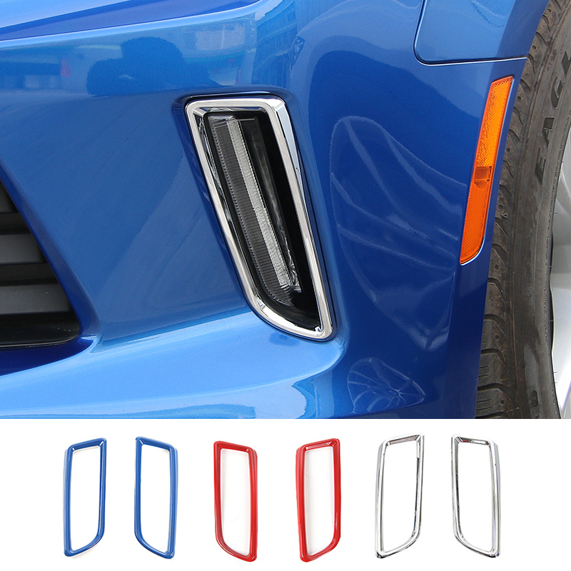 MOPAI ABS Car Interior Front Daytime Running Light Decoration Cover Sticker for Chevrolet Camaro 2017 Up