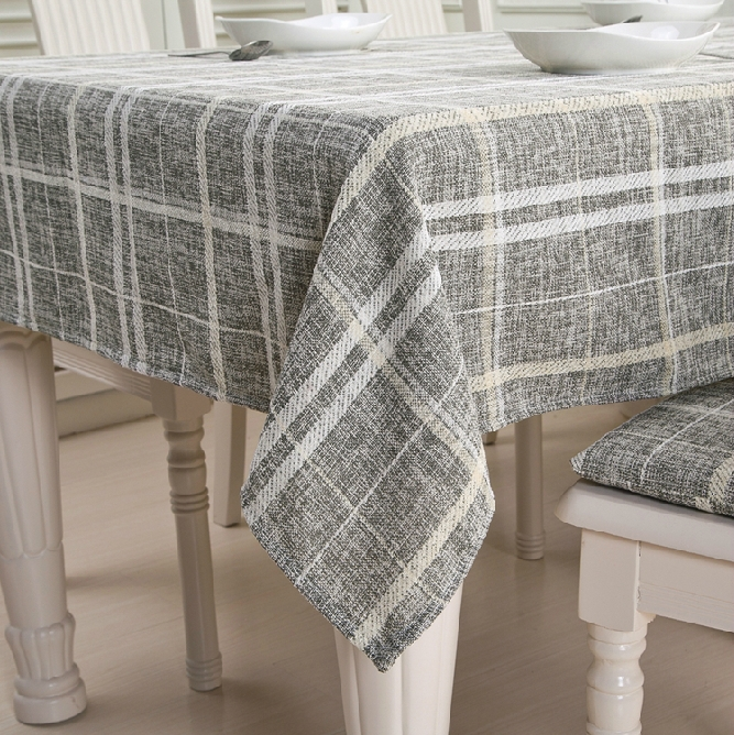 Free Shipping 2015 Ikea Customize Home Decor Pastoral Grey Yellow Plaid  Linen Woven Tablecloth Toalha De Mesa Nappe In Tablecloths From Home U0026  Garden On ...