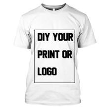 WSFK  Individuelle Druck T Shirt für Männer DIY Ihre wie Foto oder Logo Weiß Top Tees T-shirt männer Größe S-6XL modal Wärme Tra