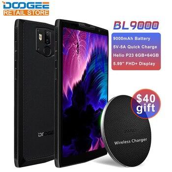 オリジナルドギーBL9000 5.99インチスマートフォンアンドロイド8.1 NFC 9000mAhワイヤレス充電MTK6763オクタコア4G電話デュアルカメラ携帯電話