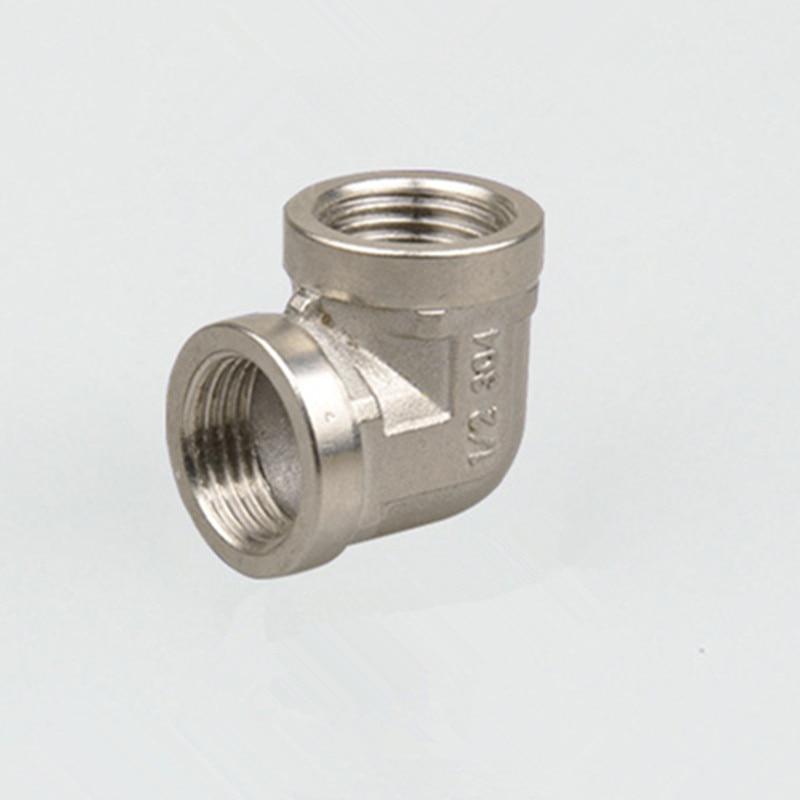 1/2 Female BSP x 1/2 Female BSP Elbow 90 Degree Stainless Steel SS 304 Threaded Pipe Fittings