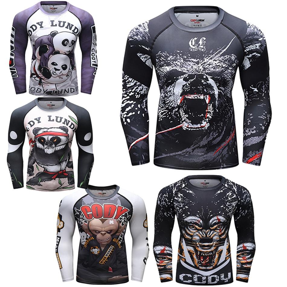 Mma T Shirts Men Rashguard Jiu Jitsu Bjj Muay Thai T Shirt Long Sleeve Boxing Gym Clothes Sport Sweater Rashguard Boxing Jerseys