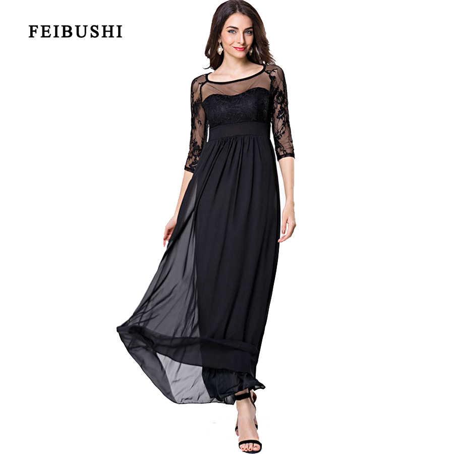 3cf7867c45069 Detail Feedback Questions about FEIBUSHI Lace Chiffon Long Dresses ...