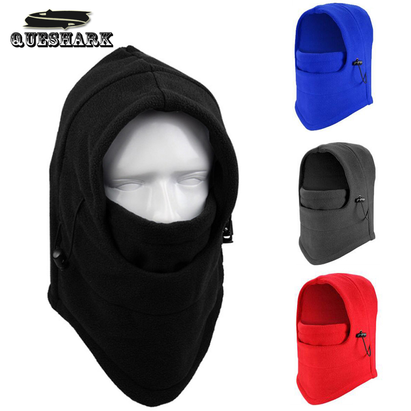 Black Neck Winte Fleece Fabric Hood Warm Helmet Hood Skate Ski Face Mask Hat US