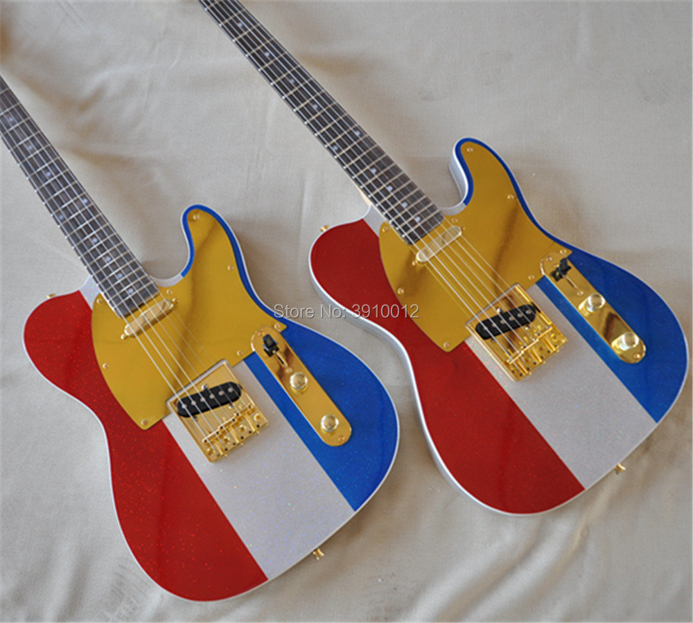 Top quiality Three color metallic glossy color Tele electric Guitar telecaster 6 strings TL guitar