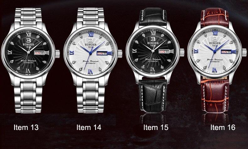 Full Stainless Steel Waterproof Luminous Men's Wristwatch