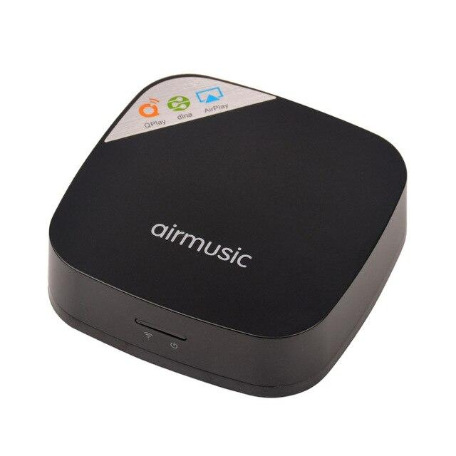 Мини Music Box Беспроводной Wi-Fi 150 Мбит/С Без Потерь Музыкальный Выход Аудио Плеер DLNA Qplay AirPlay Потокового Приемник Звук Mate LR2223