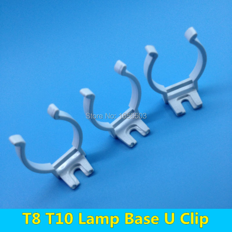100 pcs tube light t8 t10 wall clip for fluorescent lamp. Black Bedroom Furniture Sets. Home Design Ideas