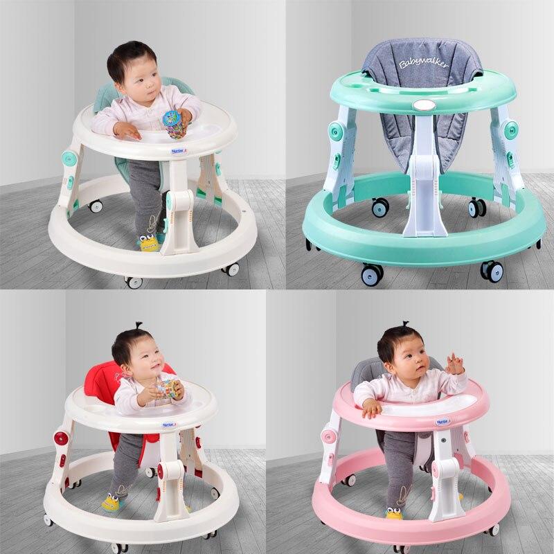 Nombre. A bébé marcheur poussette marche bébé premiers pas voiture pliante bambin chariot assis sur pied vélo enfants tricycle pour enfants - 4