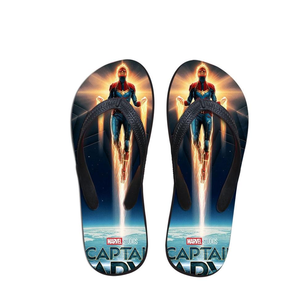 UnabhäNgig Anpassbare Sommer Männer Flip-flops Strand Anti-slip Sandalen Casual Anti-slip Schuhe Berühmte Film Kapitän Mavel Drucken Einzigartige Design Schuhe