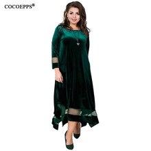 3499f9beacd Бархат 5xl 6xl вечерние платье плюс размер вечернее женское платье  свободные Туника большого размера Длинное Макси