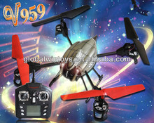 WL V959 Gyro Lastest 2.4G 6-Axis 4CH RC Quad Copter Helicopter with Camera, Lights and Gyro V969 V979 V989 V999