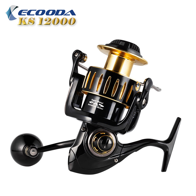 Ecooda 2018 Knight KS12000 Heavy Duty Metal Spinning Jigging Fishing Reels Saltwater Waterproof Boat Trolling Fishing Reel hiumi 30kg power drag 3000 8000 daiwa saltiga alike spinning reels heavy duty sea fishing boat fishing jigging fishing reel