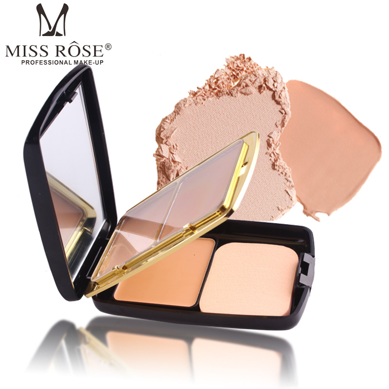 MISS ROSE 2 colors powder cake 1 color gel foundation foundation fashion with air cushion repair capacity powder makeup