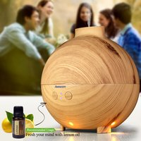 Aromacare 600ml Air Humidifier Mist Maker Fogger Atomizador Oil Diffuser Humidifier Wood Grain Humidifeir Baby SPA