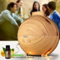 Aromacare 600ml Air Humidifier Mist Maker Fogger Atomizador Oil Diffuser Humidifier Wood Grain Humidifeir Baby SPA