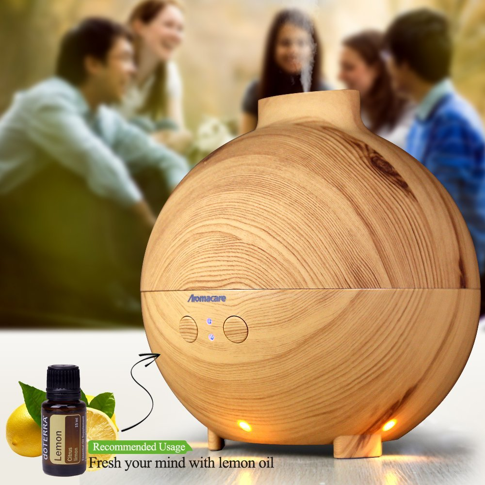 Aromacare 600ml Aroma Essential Oil Diffuser Ultrasonic Cool Mist Humidifier Air Purifier LED Night light for Office Home bigl usb aroma essential oil diffuser ultrasonic cool mist humidifier air purifier led night light for office home air diffuser