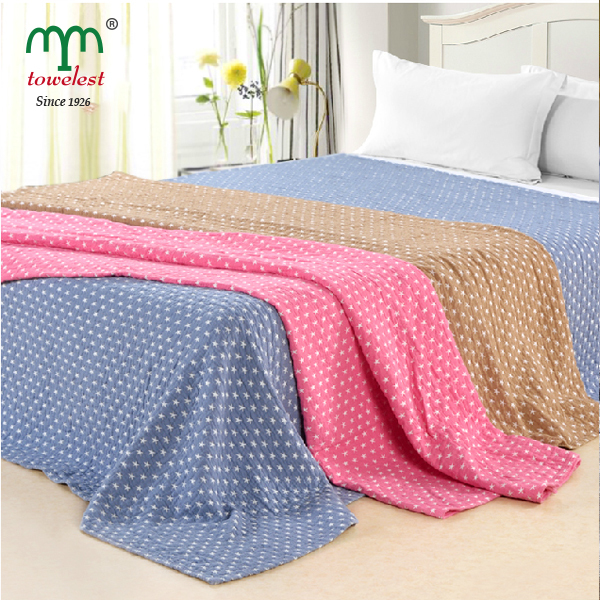 ФОТО MMY 2017 New Cotton Blanket on the Bed--1PC 180*220cm Star Jacquard Bed Sheet Throws cobertor 040098