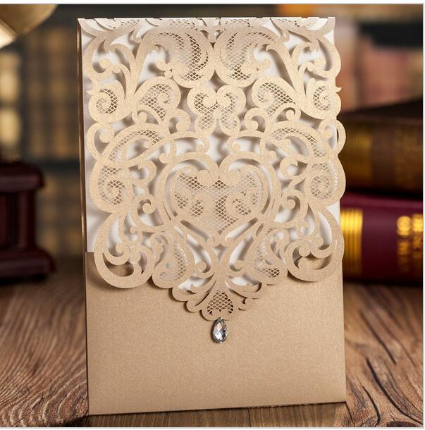 Graceful Pearl White Laser Cut Pocket Whole Wedding Invitation Wpl0010 Matching Cards Available