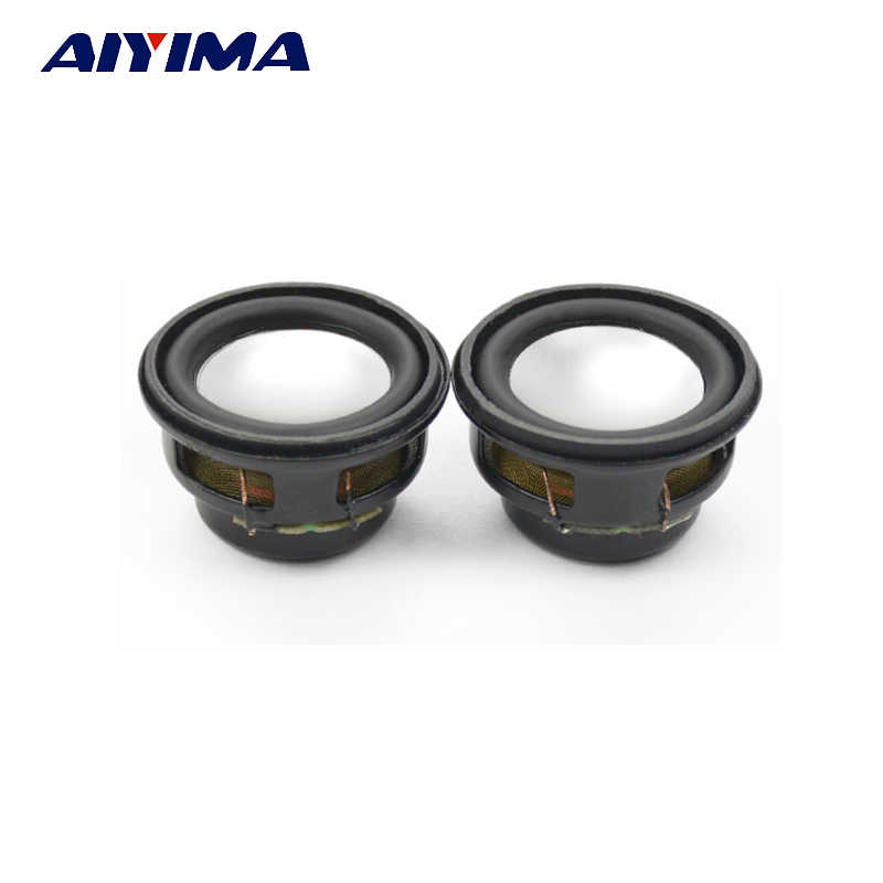 AIYIMA 2Pcs Mini Audio Speaker 27MM 4Ohm 3W Bass Multimedia Portable Speakers Audio Woofer Loudspeaker DIY
