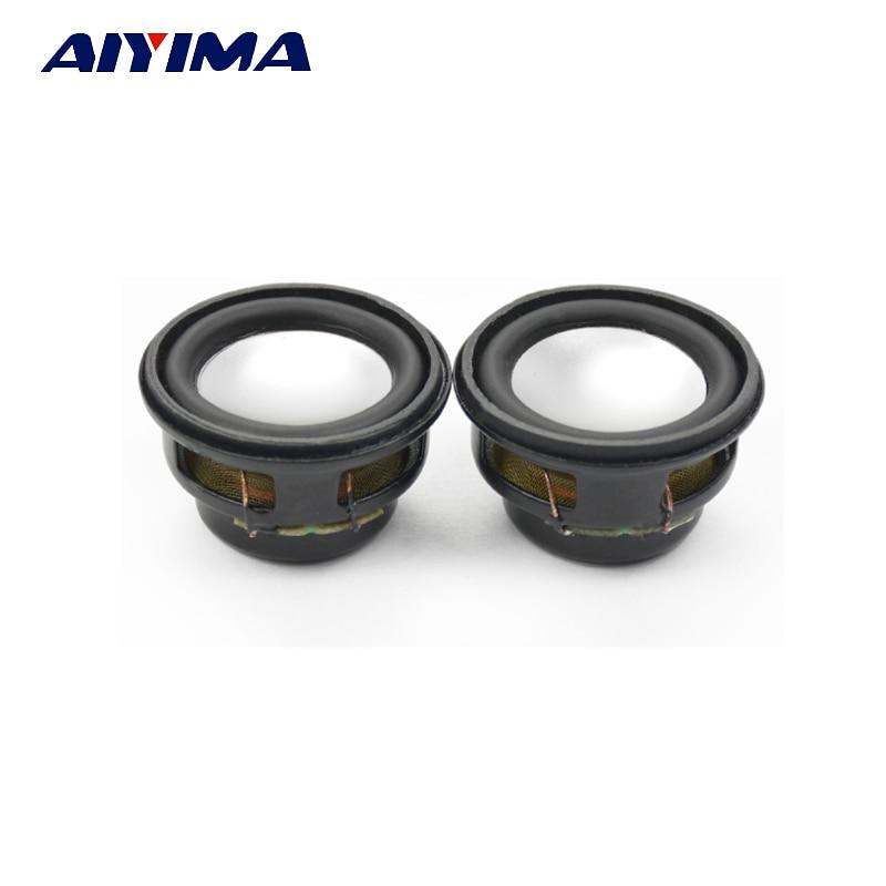 Aiyima 2PC Mini Speaker Bass Multimedia Speakers 27mm 4ohm 3