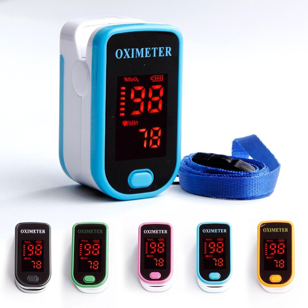 Appareil médical portatif d'oxymètre de doigt Saturometro d'impulsion mesurant l'appareil d'oximetro de moniteur de fréquence cardiaque