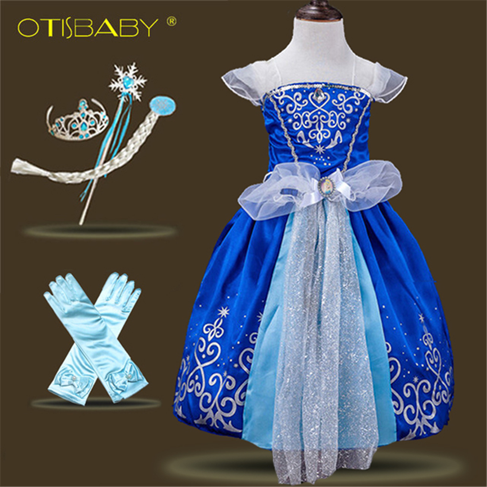 Kids Cosplay Costume Dress Cinderella Elsa Baby Girls: Toddler Girls Summer Clothing Birthday Dress Cinderella