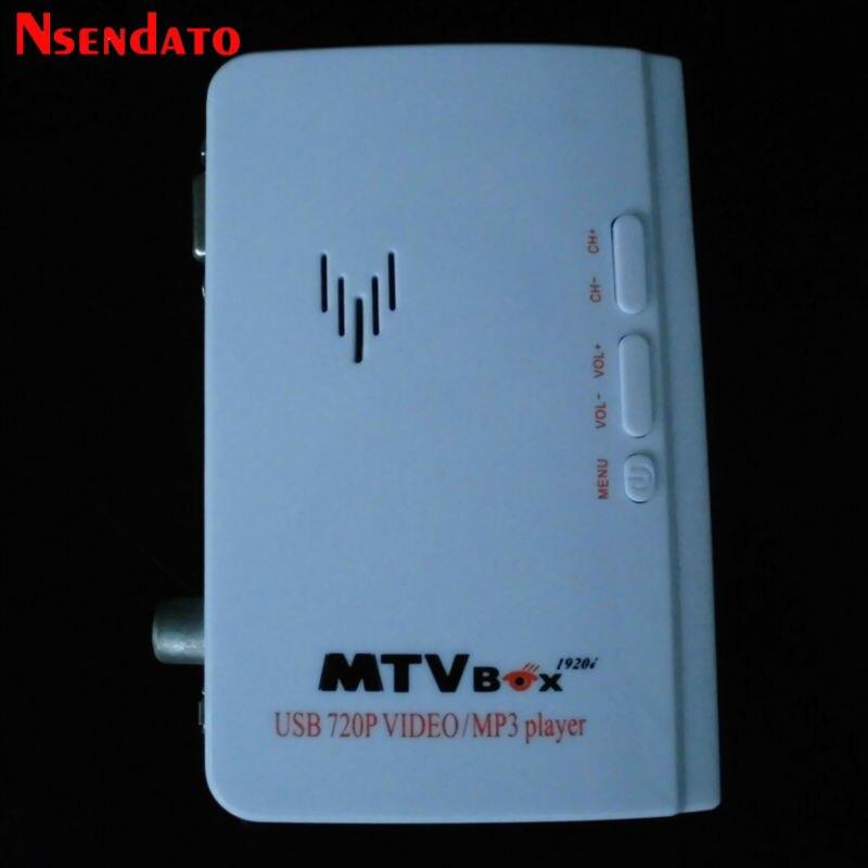 Sintonizador de TV externo VGA MTV caja para monitor LCD AV a VGA receptor sintonizador TV set top box con Control remoto soporte PAL/NTSC