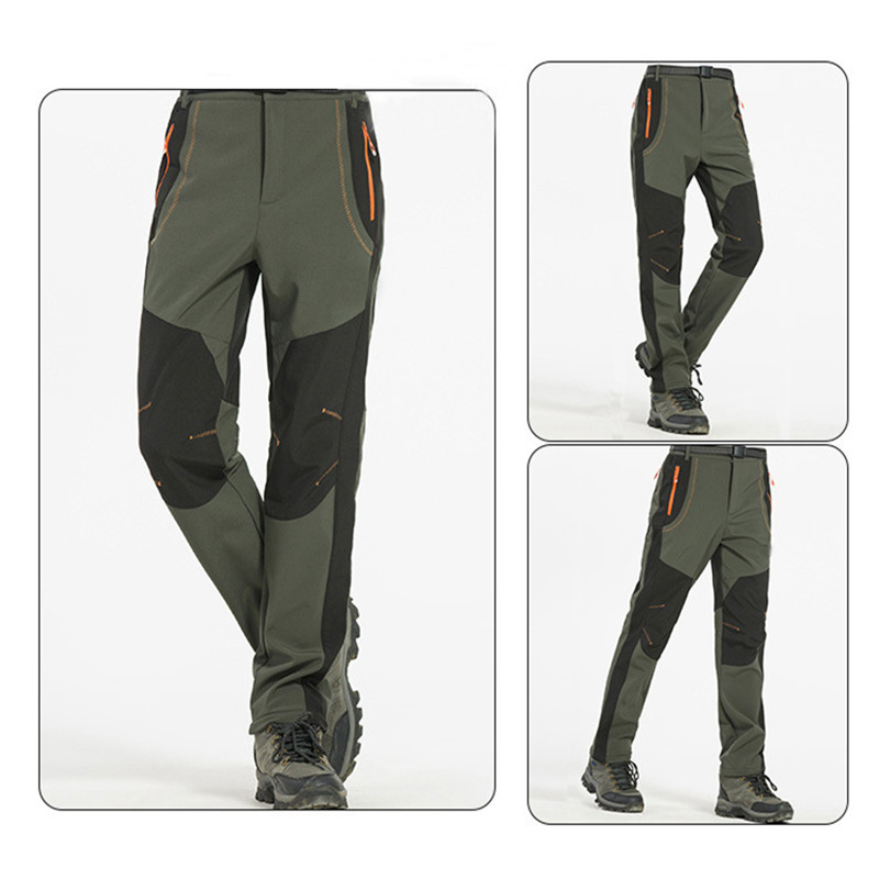 New Trekking Pants Men Windproof Climbing Waterproof UV Protection Trousers Outdoor Sport Camping Windstopper Softshell Pants