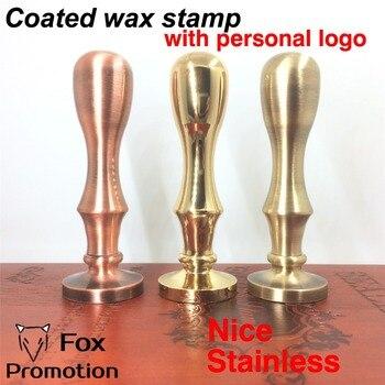 カスタマイズワックススタンプであなたのロゴ、コーティングされた真鍮ハンドルスタンプdiy古代シールレトロスタンプ、パーソナライズされたワックスシールカスタムデザイン