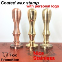Customize Wax Stamp With Your Logo Coated Brass Handle Stamp DIY Ancient Seal Retro Stamp Personalized