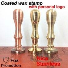Sello de cera personalizado con su logotipo, manija de sello de latón recubierto sello antiguo DIY/sello Retro, sello de cera personalizado diseño personalizado