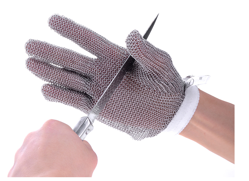 Cut Proof Stab Resistant Stainless Steel Metal Mesh Butcher Glove stainless steel Size S High Performance Level 5 Protection top quality 304l stainless steel mesh knife cut resistant chain mail protective glove for kitchen butcher working safety
