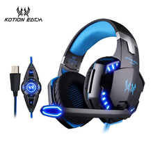EACH G2200 Vibration Gaming Headset 7.1 PC casque Gaming Gamer Headset Surround 7.1 Headphone USB With Microphone For Computer