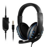 """pc עם 3.5 מ""""מ Wired Gaming אוזניות משחק אוזניות ביטול רעש אוזניות עם בקרת עוצמה מיקרופון עבור Play PS4 תחנת 4 PC (1)"""