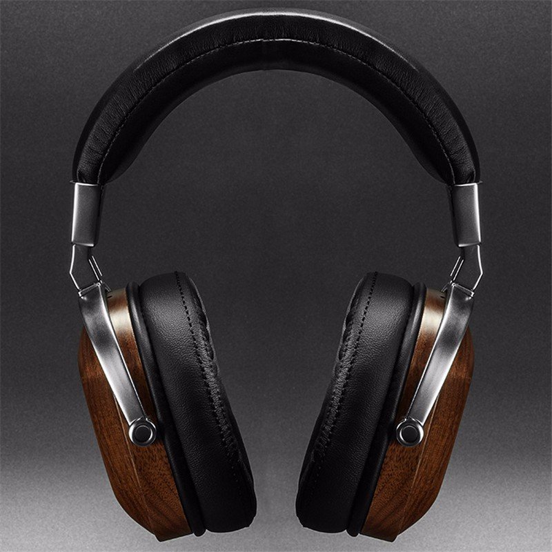 Original BossHifi B8 HiFi Wooden Metal Headphone Black Mahogany Headset Earphone With Beryllium Alloy Driver And protein Leather (7)