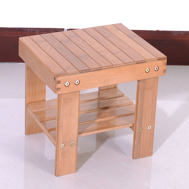 Children Bench Stool Bamboo Kid's Stools Wood Color HOT SALE